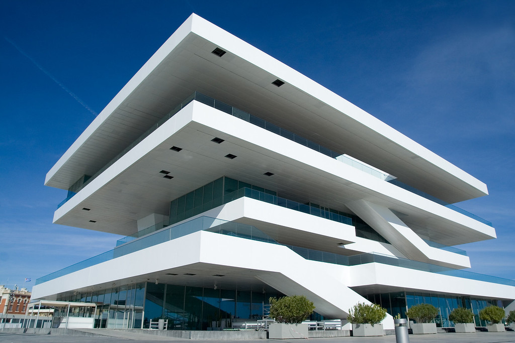 VALENCIA, SPAIN - JANUARY 20: The Fodereck Building in the port of Valencia.  Home of the 33rd America´s Cup sailing event which will take place on Feburary 8, 2010 in Valencia, Spain.
