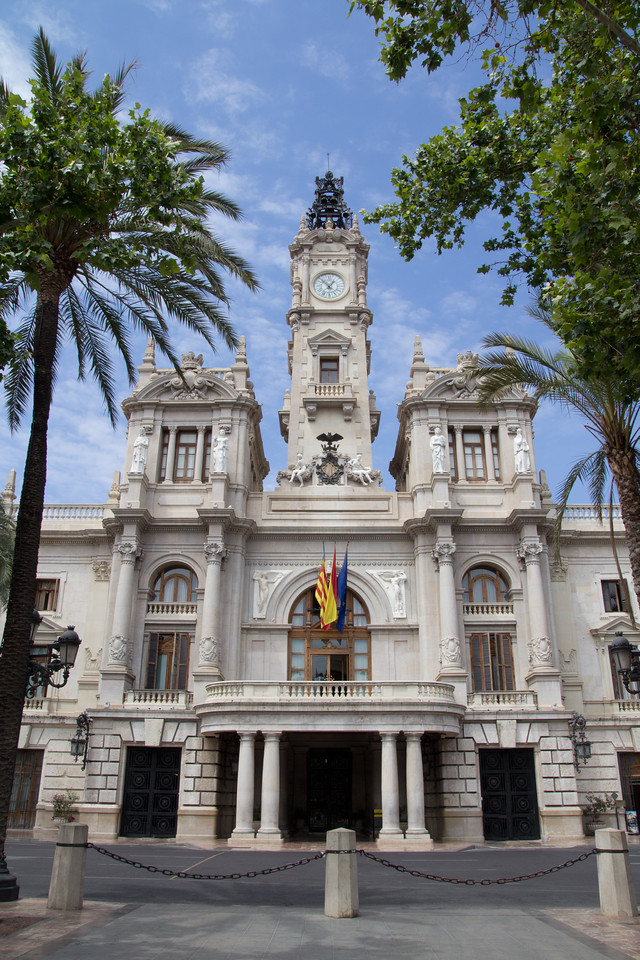 City Hall Building in Valencia, Spain.