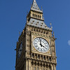 Close up of Big Ben in London, England.