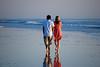 Couple walking near the Jacksonville Beach Pier